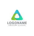 modern abstract triangle logo icon template vector image vector image