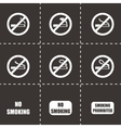 no smoking icon set vector image