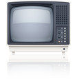 Old style retro tv set icon vector image vector image