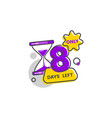 only 8 days left - isolated flat sticker with vector image vector image