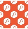Orange hexagon search pattern vector image vector image