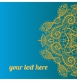 ornate frame with sample text Azure vector image vector image