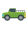 pickup truck isolated icon vector image vector image
