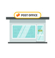 post office isolated building on white background vector image vector image