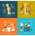 Posture 2x2 Design Concept Set vector image