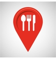 restaurant concept pin map design vector image vector image