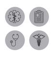 round icon health vector image vector image