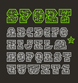 Serif geometric sport font vector image