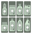 set of cute medicine bottle vector image vector image