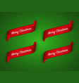 set of four modern red christmas ribbons vector image