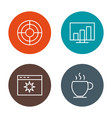 set of seo search engine optimization icons vector image vector image