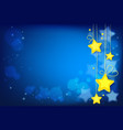 shining magic stars on dark blue background vector image vector image