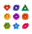 Shiny Glossy Colorful Buttons Set vector image vector image