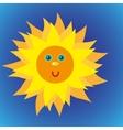 Shiny sun in the blue sky
