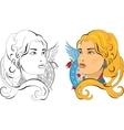 Slavic Princess vector image vector image