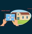 smart home flat design vector image vector image