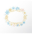 snowflake frame transparent background christmas vector image vector image