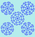 snowflake sign set 2312 vector image vector image