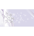 snowy background vector image vector image