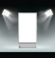 street advertising blank lightbox vector image