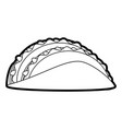 tacos food silhouette vector image vector image
