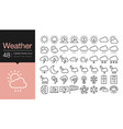 weather icons modern line design for presentation vector image