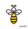 modern logo bee honey icons honeybee linear flute vector image