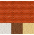 Brick wall backgrounds vector image