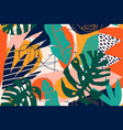 abstract modern tropical paradise collage vector image vector image