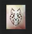 abstract polygonal wolf head design vector image vector image