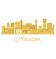 asuncion paraguay city skyline silhouette with vector image vector image