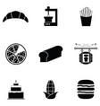 bread icon set vector image