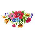 buoquet flowers vector image