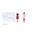 businesswoman choosing new dress elegant woman vector image