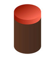 cacao plastic jar icon isometric style vector image