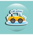 car wash service design vector image vector image