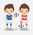cartoon of soccer player vector image vector image