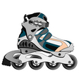 cartoon skate boot vector image vector image