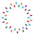 Christmas and New Year light in circle vector image vector image