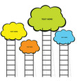 cloud with stairs set in color vector image vector image