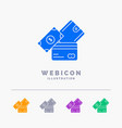 credit card money currency dollar wallet 5 color vector image