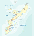 detailed road map of japanese island vector image vector image