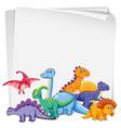 dinosaur on blank paper vector image