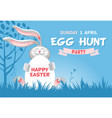 easter egg hunt flyer template vector image vector image