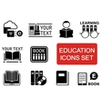 education icon set with red accent vector image vector image