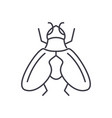 fly line icon sign on vector image vector image