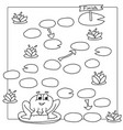 Game template with frog coloring book vector image