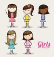 girl design vector image vector image