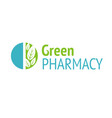 green pharmacy vector image vector image