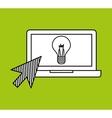 hand draw laptop creativity social network media vector image vector image